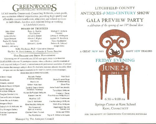 Litchfield County Antiques Show Preview Party Invitation