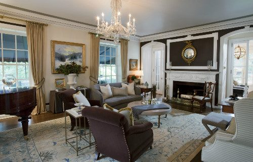 CT Governor's Residence Living Room: Before & After