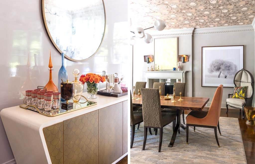 Painted Brick Georgian Home Dining Room