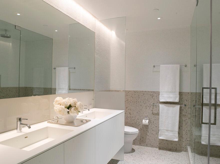modern loft master bath