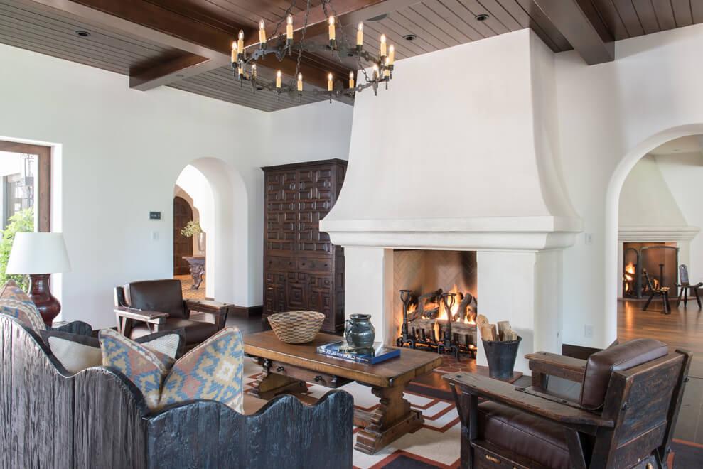 spanish fireplace ideas
