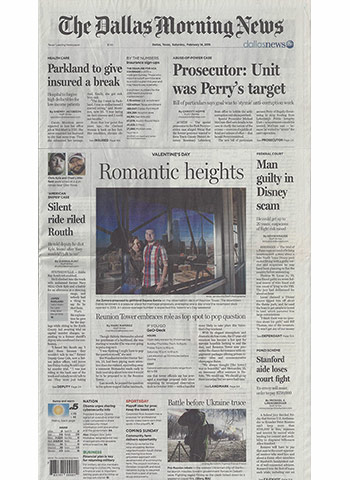 Dallas Morning News February 14 2015