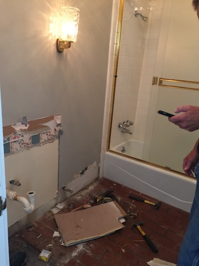 photos of powder bath remodel