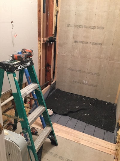 powder bath renovation from tub to shower