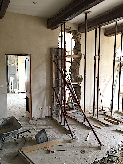 Before image of demolition in house.