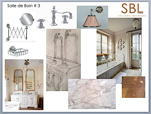 S B Long Interiors Bathroom mood board.
