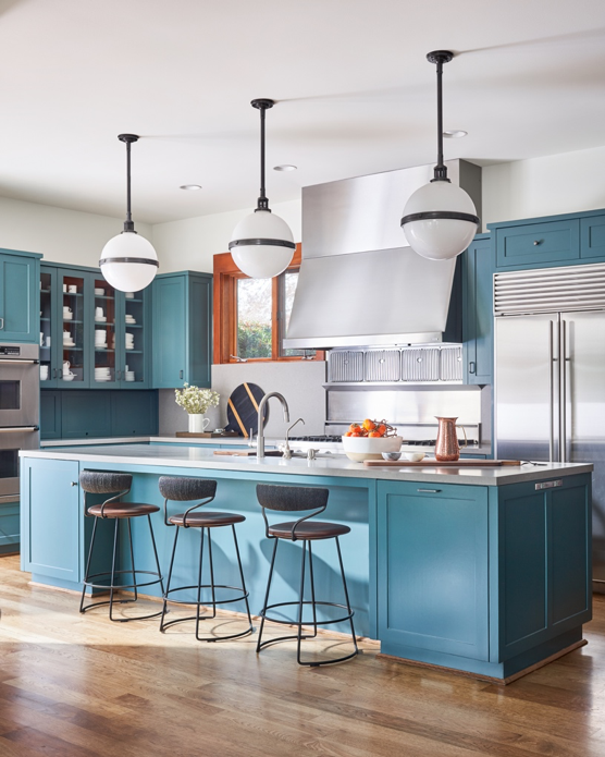 Bright modern traditional kitchen by S.B Long Interiors