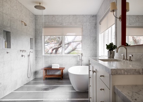 S.B. Long Interiors Preston Hollow Contemporary Craftsman Master Bathroom