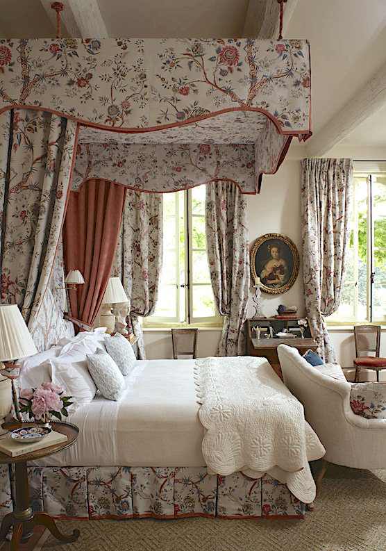 Veranda Magazine provence bedroom