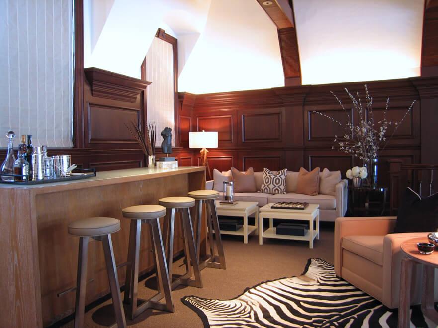 rustic modern home interior design in dallas tx