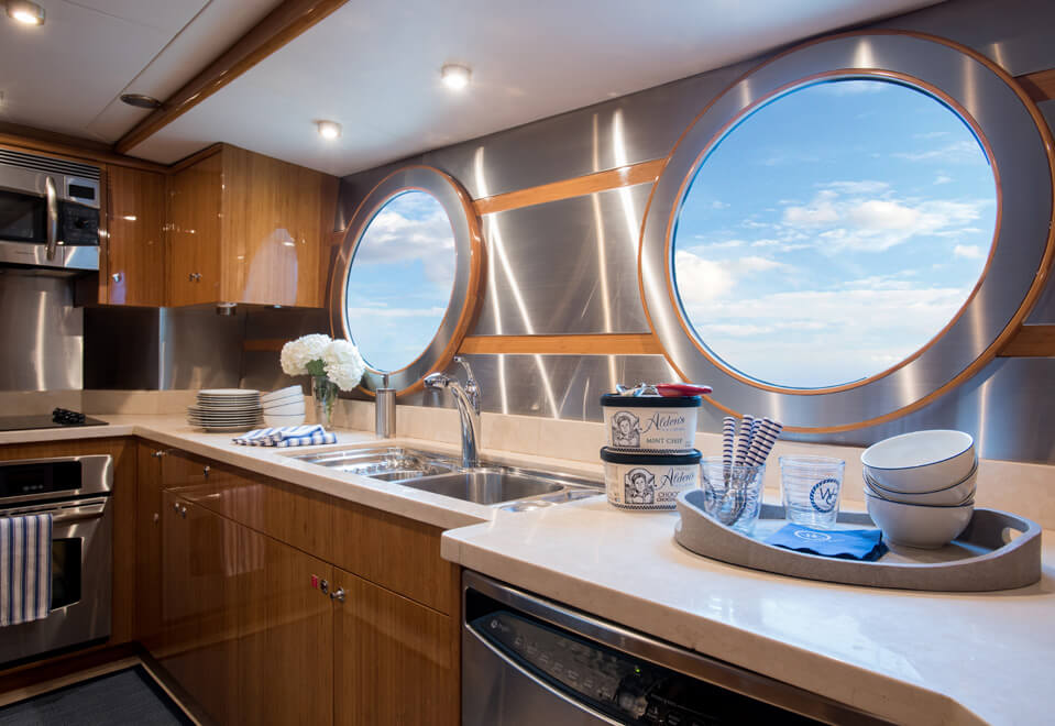 yacht interior design galley