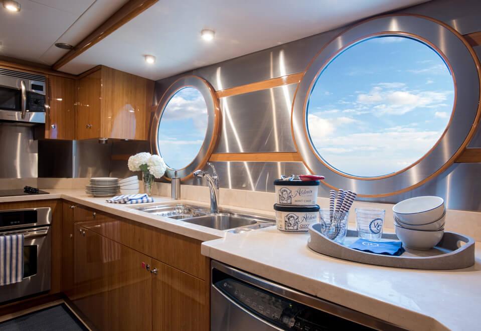 yacht interior design galley