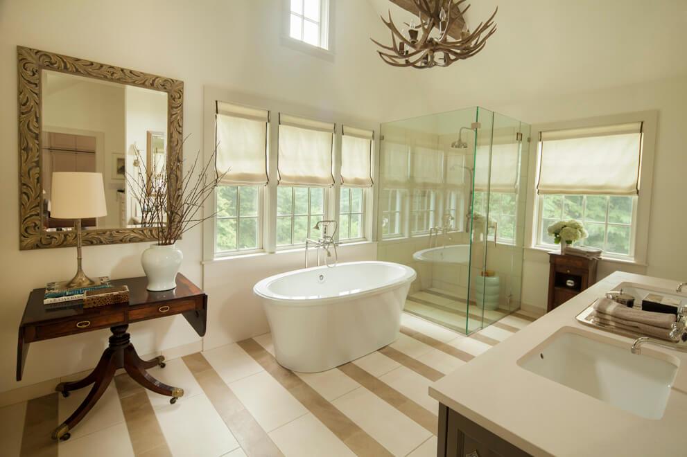 antique furnishings in bathroom