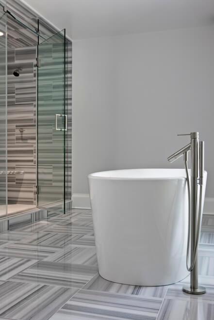modern master bathroom dallas tx