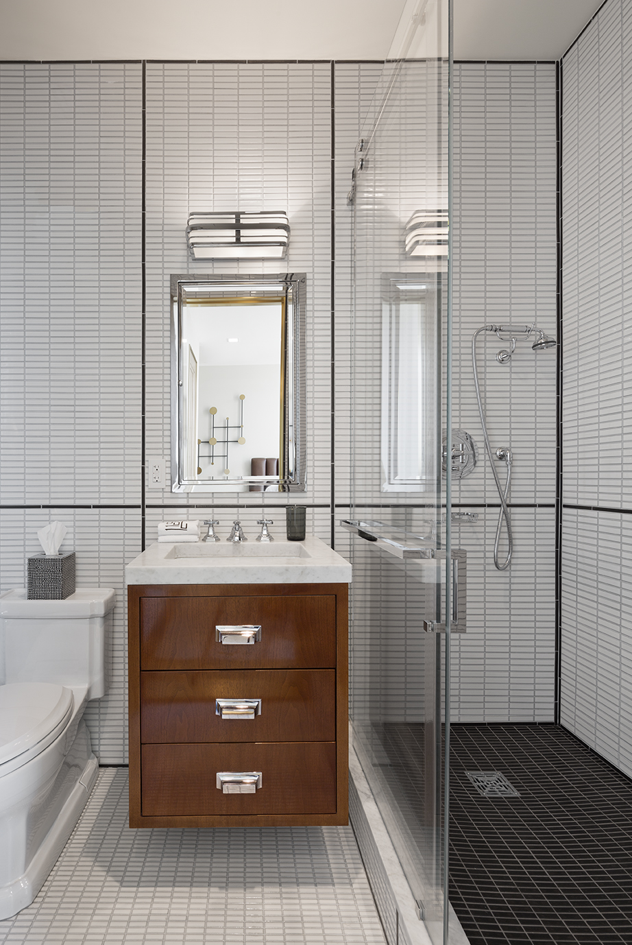 Modern bathroom apartment