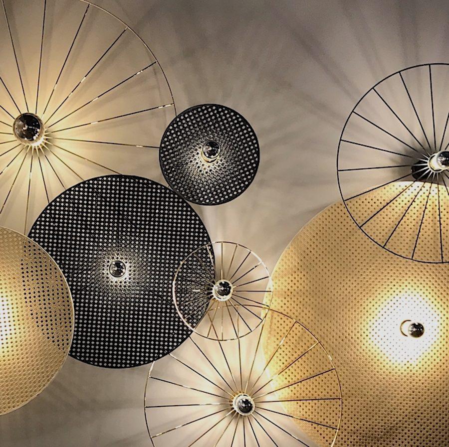 modern Wheel disk lights