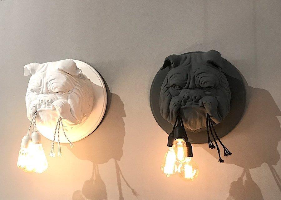 Amsterdam matt ceramic wall sconces by Karman lighting