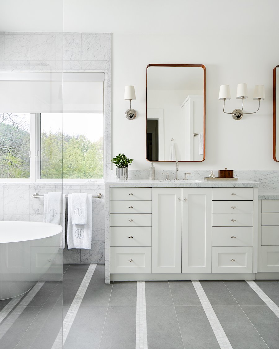 Carrara Marble modern bathroom