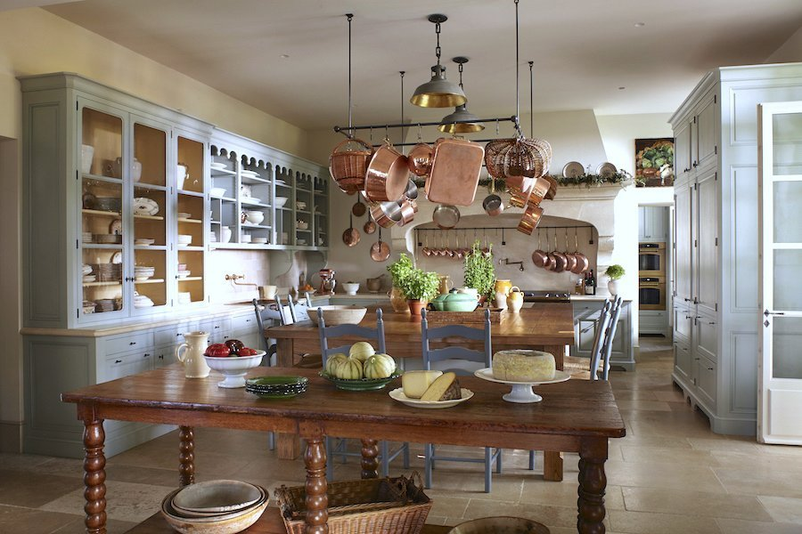 Le Mas des Poiriers kitchen designed by S. B. Long Interiors
