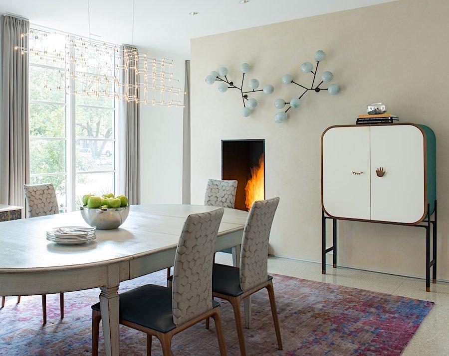 modern dining room highland park