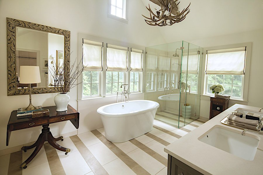 modern traditional bath design