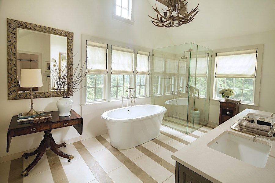 modern traditional bath design