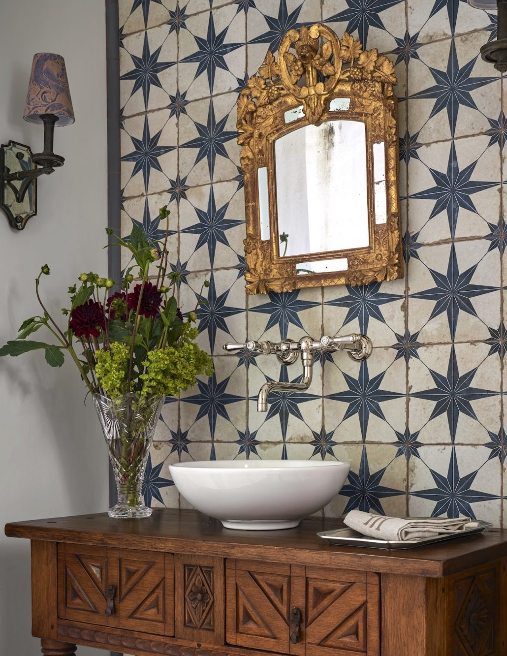 spanish powder bath tile